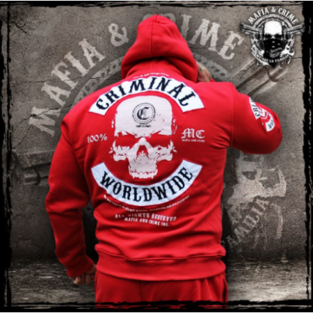 "Mafia & Crime ""CRIMINAL WORLDWIDE"" red mask 448"