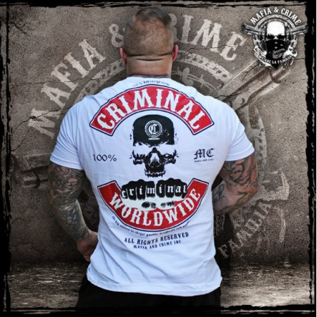 "Mafia & Crime ""CRIMINAL WORLDWIDE""  182 white-red"